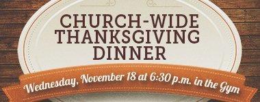 Church-Wide Thanksgiving Dinner | Calvary Baptist Church